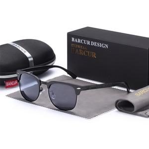 Image 5 - BARCUR الرجال النظارات الشمسية الألومنيوم الاستقطاب الذكور نظارات شمسية نظارات الكلاسيكية فاسق Gafas Oculos دي دول Masculino