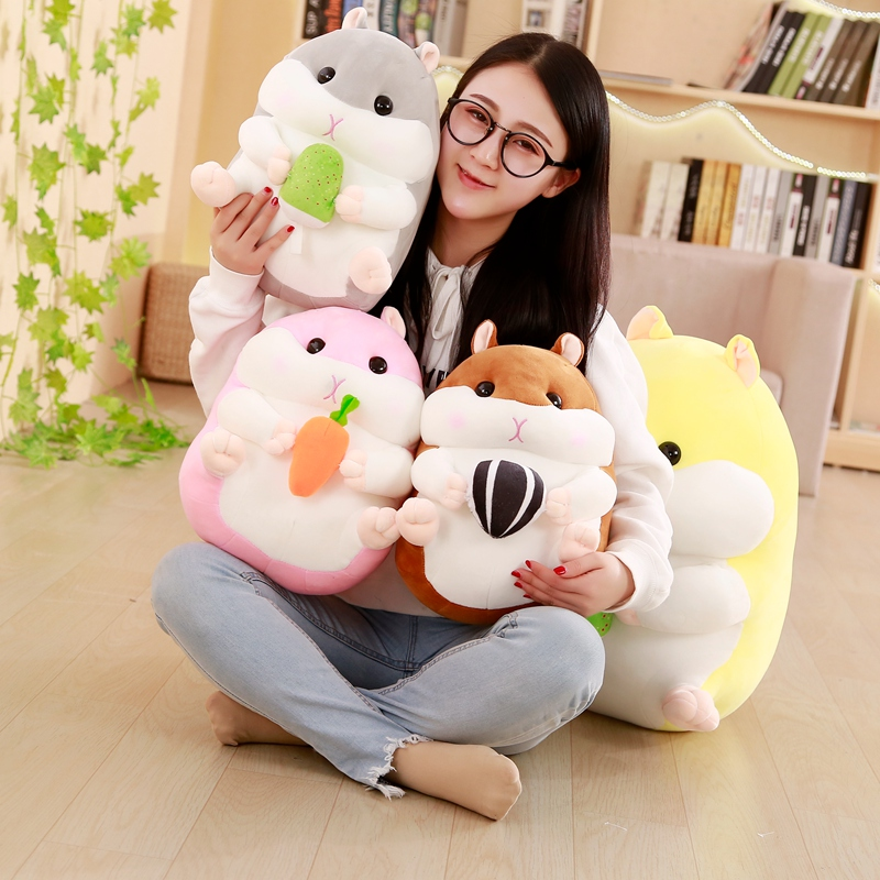 20/30/40cm Hamster Pillow Down Cotton Plush Toy Soft Stuffed Doll Cushion Cartoon Cute Gift For Child Kid