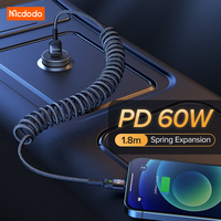 MCDODO-Cable de extensión USB C a USB tipo C, Cable de datos de carga rápida de 60W, 3A, para Xiaomi mi 11, Redmi, Samsung y LG