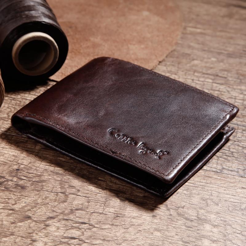 Купить с кэшбэком Cobbler Legend Famous Brand Genuine Leather Men Wallets Handmade Men's Wallet Male Money Purses Coins Wallet With ID Card Holder