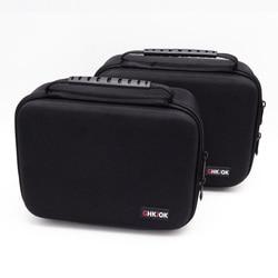 GHKJOK 3.5 بوصة كبير حجم متعدد الطبقات الرقمية أداة حقيبة التخزين النيوبرين السفر المنظم حالة ل HDD ، محرك فلاش usb كاميرا