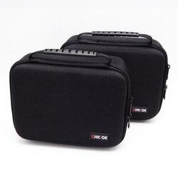 Ghkjok 3.5 polegada grande tamanho multicamadas digital gadget armazenamento saco de viagem neoprene organizador caso para hdd, usb flash drive câmera