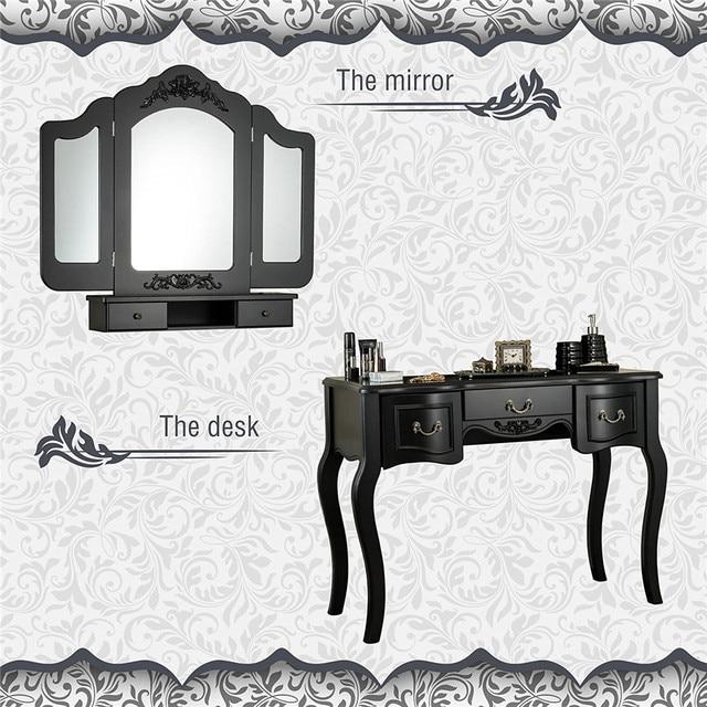 Vanity Set  w/ 3 Mirrors and 5 Drawers  5