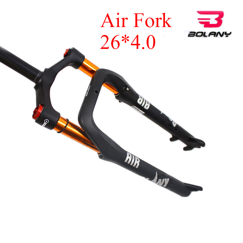 """BOLANY 26*4.0/"""" Fat Bike Suspension Fork 135mm MTB Snow Beach Bicycle Air Forks"""