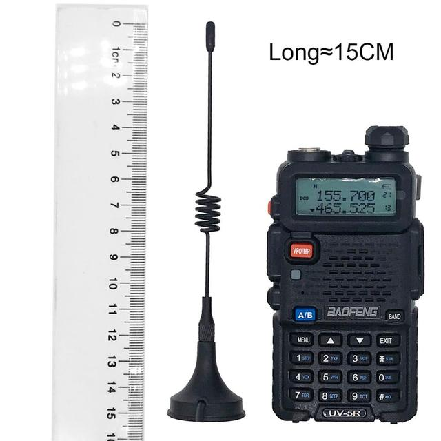 BAOFENG High Gain Antenna for BF-888S UV-5R Car Used Auto Magnet Outdoor Activity Necessary Accessories cb radio station RG-174 2