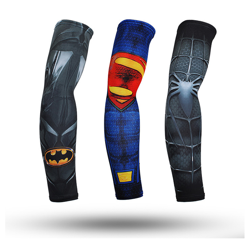 1 Pair Ice Fabric Breathable UV Protection Running Arm Sleeves Basketball Elbow Pad Sport Cycling Outdoor Motorcycle Arm Warmers