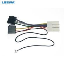 Leewa 5 conjunto de áudio do carro estéreo iso cablagens adaptador para nissan infiniti 07-12 instalar aftermarket cd/dvd estéreo fio plug