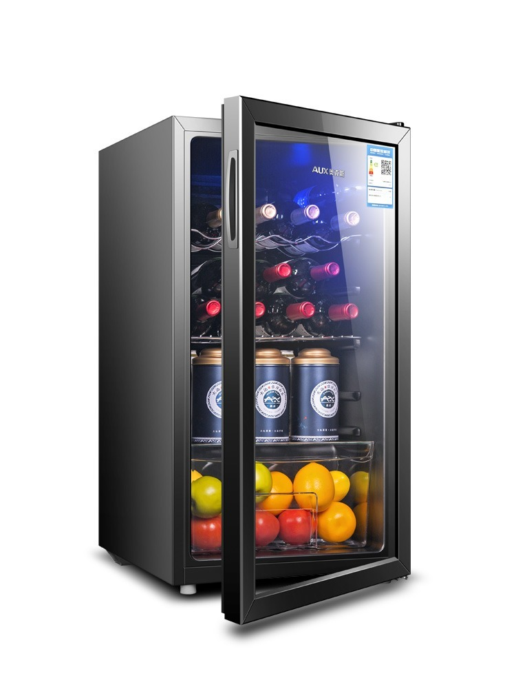 220V Ice Bar Small Household Living Room Single Gate Refrigerator Tea Leaf Storage Cabinet Wine Cooler Cabinet