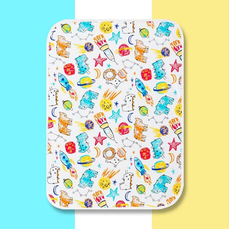 Купить с кэшбэком Newborn diaper mat changing mat disposal changing Portable toddler Nursing Scorpion Diaper table pad cartoon