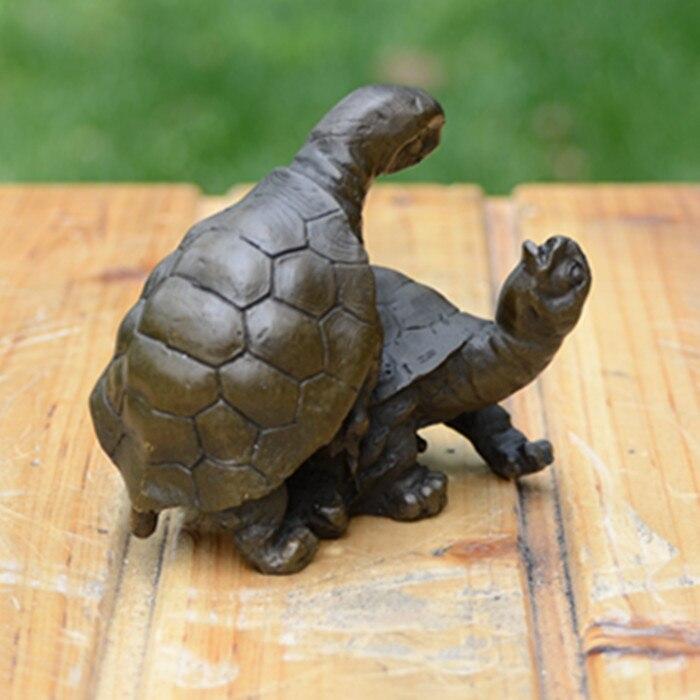 Sculpture en cuivre ornements de tortue dépendent les uns des autres accompagnés d'arts et d'artisanat bijoux ménagers cadeaux d'anniversaire de mariage F - 4