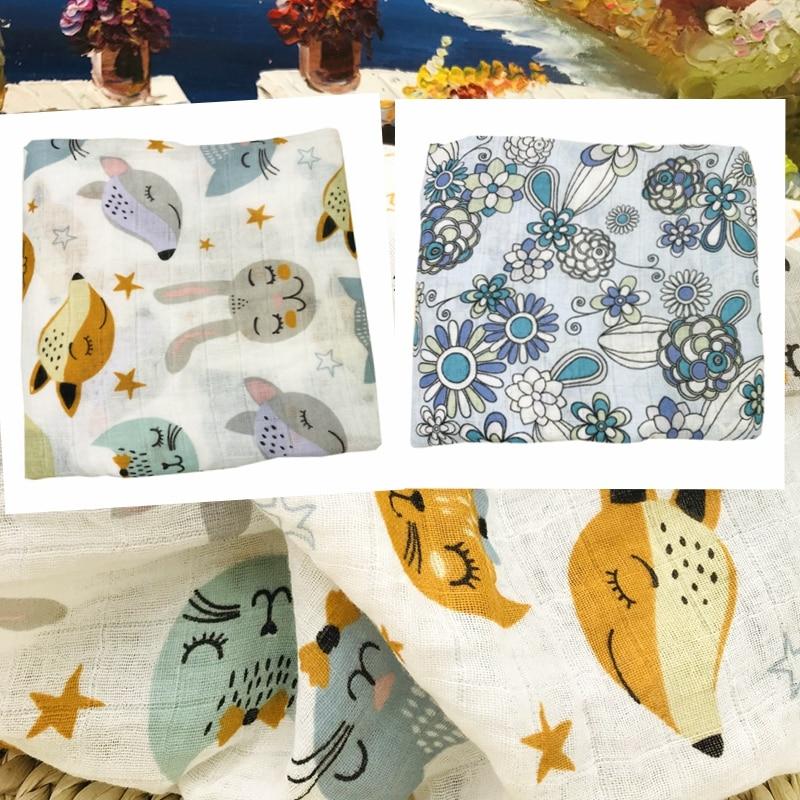 Newes Newborn 100% Cotton Muslin Baby Blanket Swaddle Wrap Babies Blankets Nest Bedding Bath Towel Swaddling 120*120cm