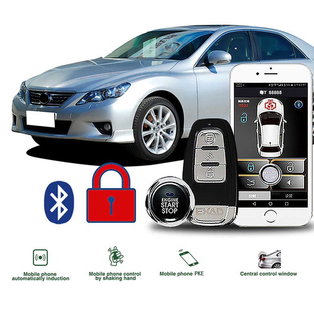 Car Alarm System With Remote Start And Keyless Entry Push Start Car Accessories Start Stop Button Smart App Auto Alarm Autostart