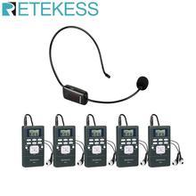 Беспроводная система гида RETEKESS, аудио FM микрофон, вспомогательная система прослушивания для обучения церкви, заводское руководство