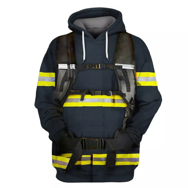 3D SHINRA KUSAKABE FIRE FORCE HOODIE (6 VARIAN)F