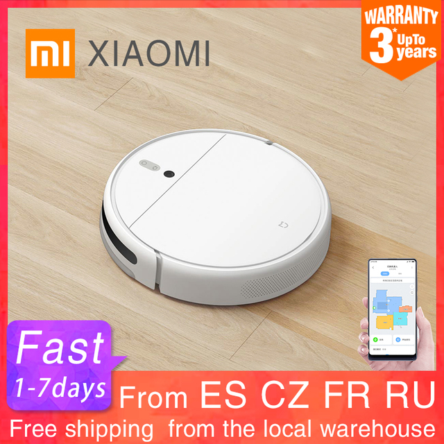 $ US $271.92 XIAOMI MIJIA Robot Vacuum Cleaner 1C for Home Wet Mopping Auto Sweeping Dust Sterilize 2500PA cyclone Suction Smart Planned Map