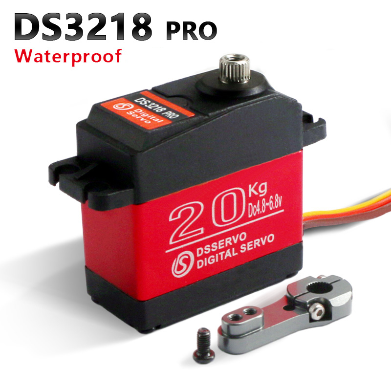 Waterproof rc servo DS3218 Update and PRO high speed metal gear digital servo baja servo 20KG/.09S for 1/8 1/10 Scale RC Cars