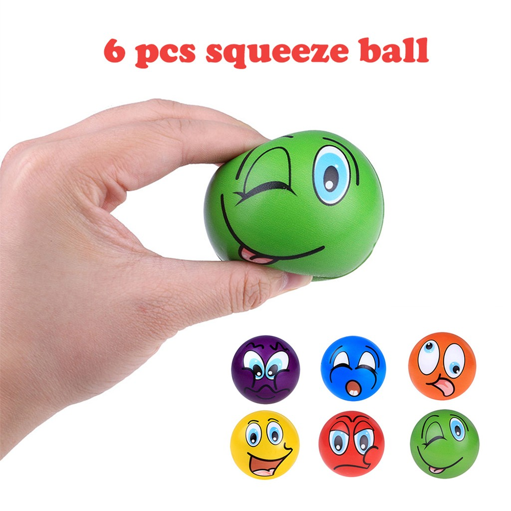 Mini Toy Antistress Stress Reliever Scented Ball Cute Phiz Rising Toys Soft Sticky Stress Relief Toys Funny Gift 6pc L1217