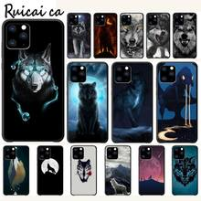 RuiCaiCa Cool Wolf Hipster Luxury Phone Case Funda For Iphone 5s Se 6 6s 7 8 Plus X Xs Max Xr 11 Pro Max Cases Cover kisscase natural wood bamboo phone cases for iphone x xs max xr cover plain phone cases for iphone 5 5s se 6 6s 7 8 plus funda