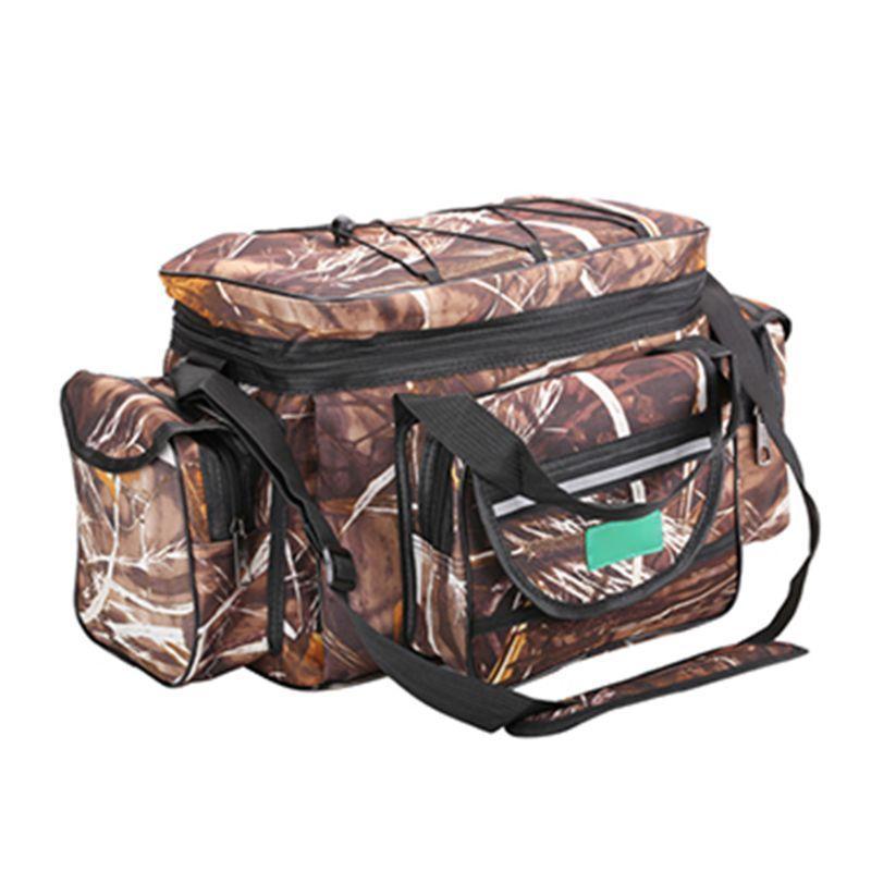 Multi function Bag Shoulder Messenger Large capacity Fishing Gear Pocket Bags Tool Waterproof Durable Pack|Fishing Bags| |  -