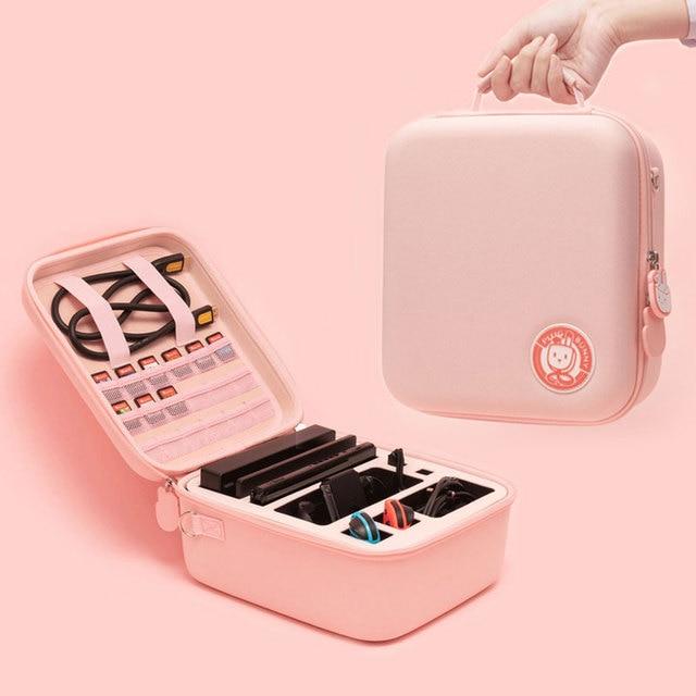 لطيف حقيبة التخزين ل نينتندو سويتش وحدة joycon السفر تخزين هارد شل حقيبة ل نينتندو سويتش لعبة اكسسوارات