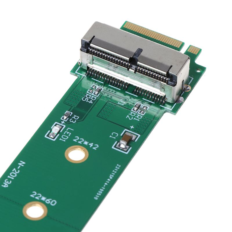 For MacBook Air Pro <font><b>12</b></font>+<font><b>16</b></font> <font><b>Pins</b></font> <font><b>SSD</b></font> to M.2 Key M (NGFF) PCI-e Adapter Converter Card for PC Computer Accessories LX9B image