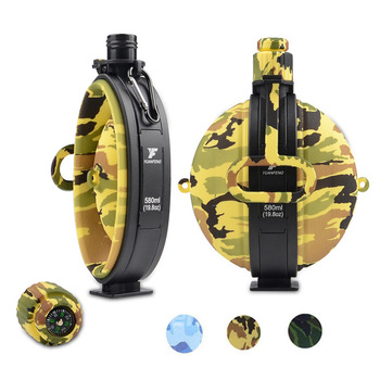 Outdoor Military Water Bottle Silicone Large Capacity Folding Water Kettle Hiking Camping Leak Proof Tour Water Bottle 4