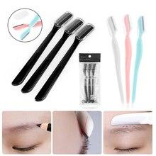 Razors Eyebrow-Shaver Makeup-Tools Beauty Fashion 3PCS Blade Hair-Removal Face-Hair Folding