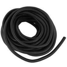Топ-50 футов разделенная проволока ткацкий станок трубопровод полиэтиленовый шланг черный цвет рукав трубки
