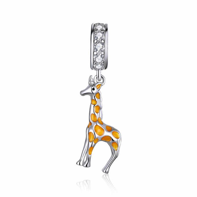 Fit אירופה צמיד חמוד בעלי החיים קסמי כסף 925 מקורי קטן ארנב כלב צבי קנגורו קואלה חרוזים עבור 2020 תכשיטי ביצוע