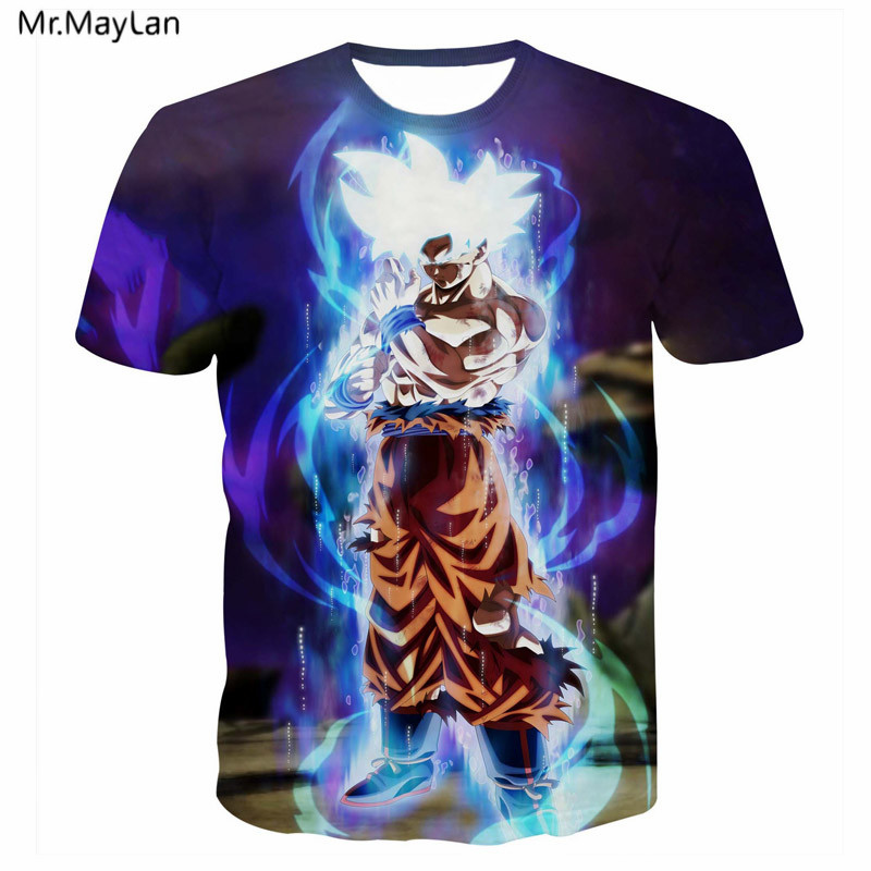 3D Print Anime <font><b>Dragon</b></font> <font><b>Ball</b></font> Z DBZ Goku <font><b>T</b></font> <font><b>shirt</b></font> Men Women Hipster <font><b>T</b></font>-<font><b>Shirt</b></font> Tees Tshirt 2018 Boy Girl Clothes <font><b>5XL</b></font> camisas goku mujer image