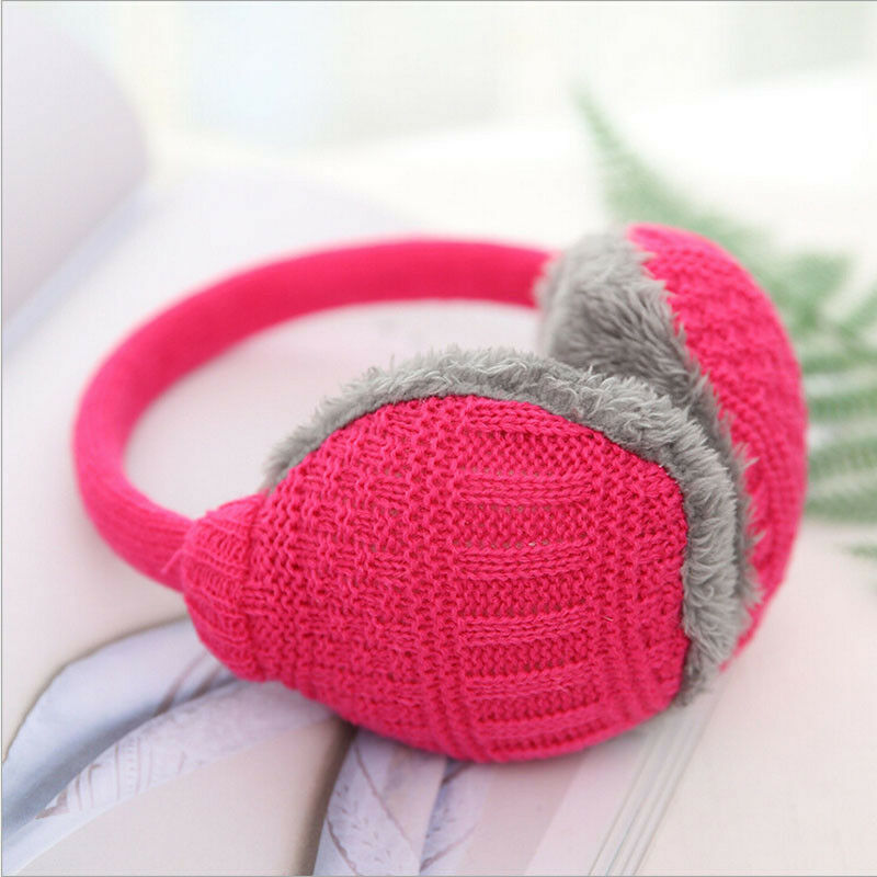 Fashion Unisex Winter Warm Knitted Earmuffs Ear Warmers Muffs Women Men Earlap Cover
