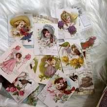 13 шт винтажный Викторианский девушка фоновый Материал стикер