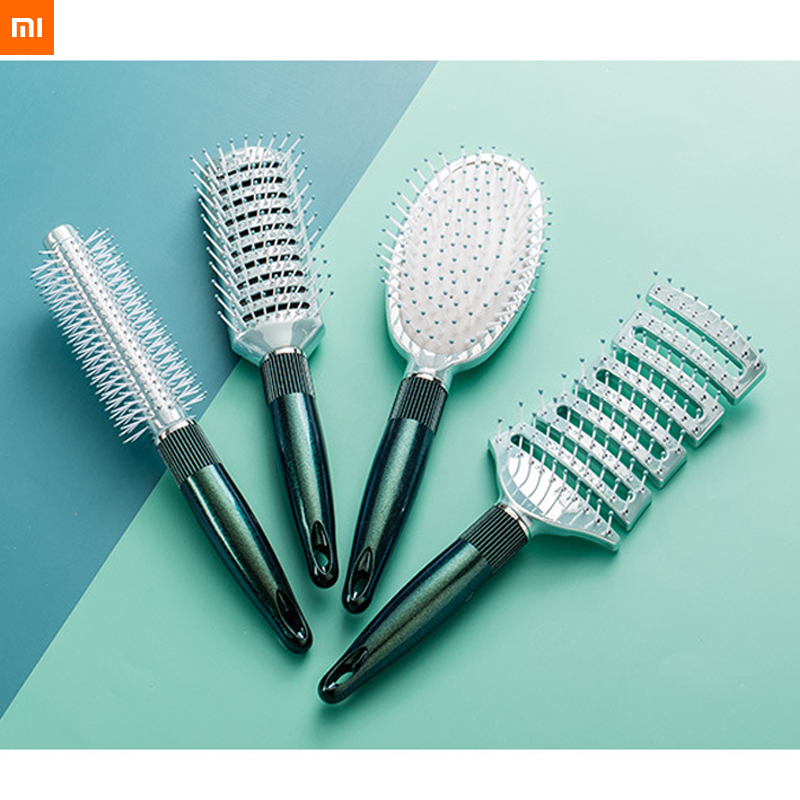 New Xiaomi JordanJudy Hair Curls Comb Blowing Hair Styling Inner Buckle Massage Comb Hair Salon Household 4 Choices