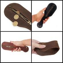 Кошелек для монет коричневый кожаный кошелек держатель винтажная