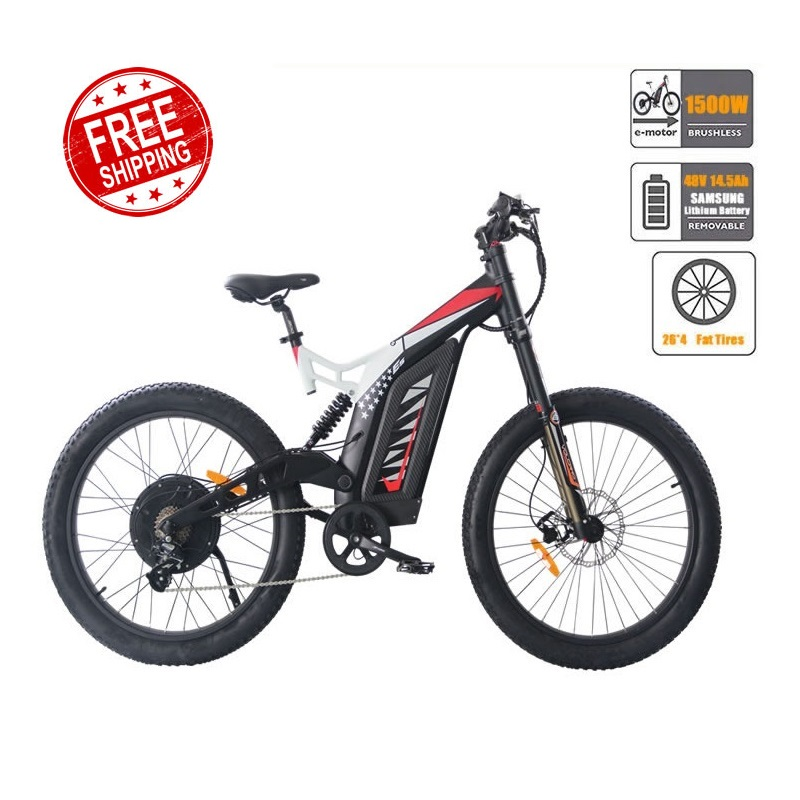 AOSTIRMOTOR Electric Mountain font b Bike b font Fat Tire Electric Bicycle Beach Cruiser Snow font