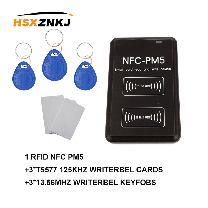 New PM5 Writer IC S50 F08 13.56MHZ RFID Copier NFC Full Decoding Function ID 125Khz T5577 EM4305 Reader Replicator