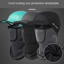 Summer ice silk anti ultraviolet air permeable sunscreen headgear brim filter PM2.5 cycling mask dust-proof sports outdoor mask
