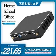 ZEUSLAP Mini PC intel core i3 i5 i7 CPU 8GB RAM 512GB SSD 2.4G 5G çift banka Wifi Bluetooth 4.0 gigabit Ethernet kartı masaüstü bilgisayar