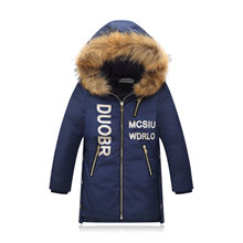 Children's Clothing BOY'S Winter Children's down Jacket Mid-length Child Thick Big Boy Korean-style Jacket New Style Plus-sized(China)