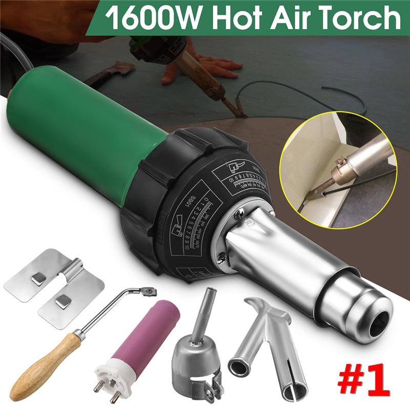 220V 1600W Plastic Integrated Welders Hot Air Welding Torch Gun Heating Core Set Plastic Welding Machine 3000Pa Welding Torch
