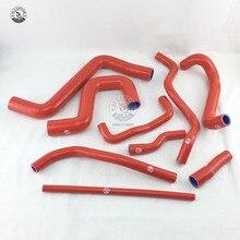 Силиконовый Впускной шланг для V W Golf GT I MK2 1,8 8V PB код 1987-1991(9 шт) красный/синий/черный
