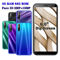 5MP + 13MP HD Telefon 6,0 zoll A10 Gesicht ID entsperrt celulars quad core android handys Globale 3G 4G RAM 64G ROM smartphones