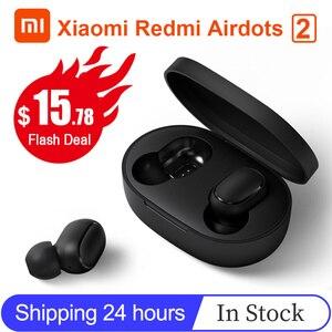Image 1 - Xiaomi Redmi Airdots 2 TWS Bluetooth kablosuz kulaklık Stereo bas kulakiçi sesli kumanda BT 5.0 gürültü azaltma musluk AI kontrolü
