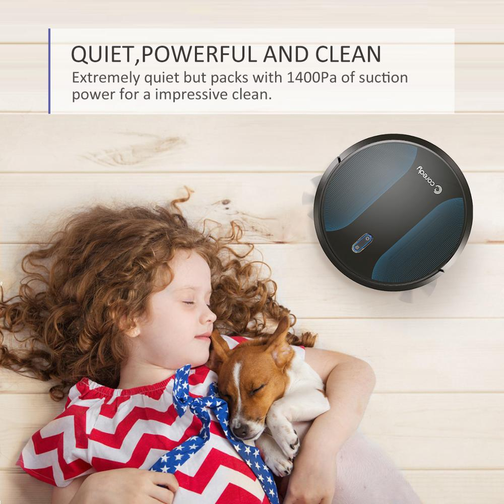 Coredy R500+ 1400PA Sauber Roboter staubsauger Automatische Staub Boden Teppich Reinigung Smart Nass Mopp Sweep Robotic vakuum für home - 2