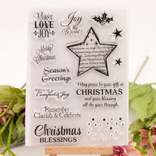 Phrase Words Clear Stamps New 2019 Christmas Transparent Silicone Seal for DIY Scrapbooking Card Making Photo Album Decor Crafts