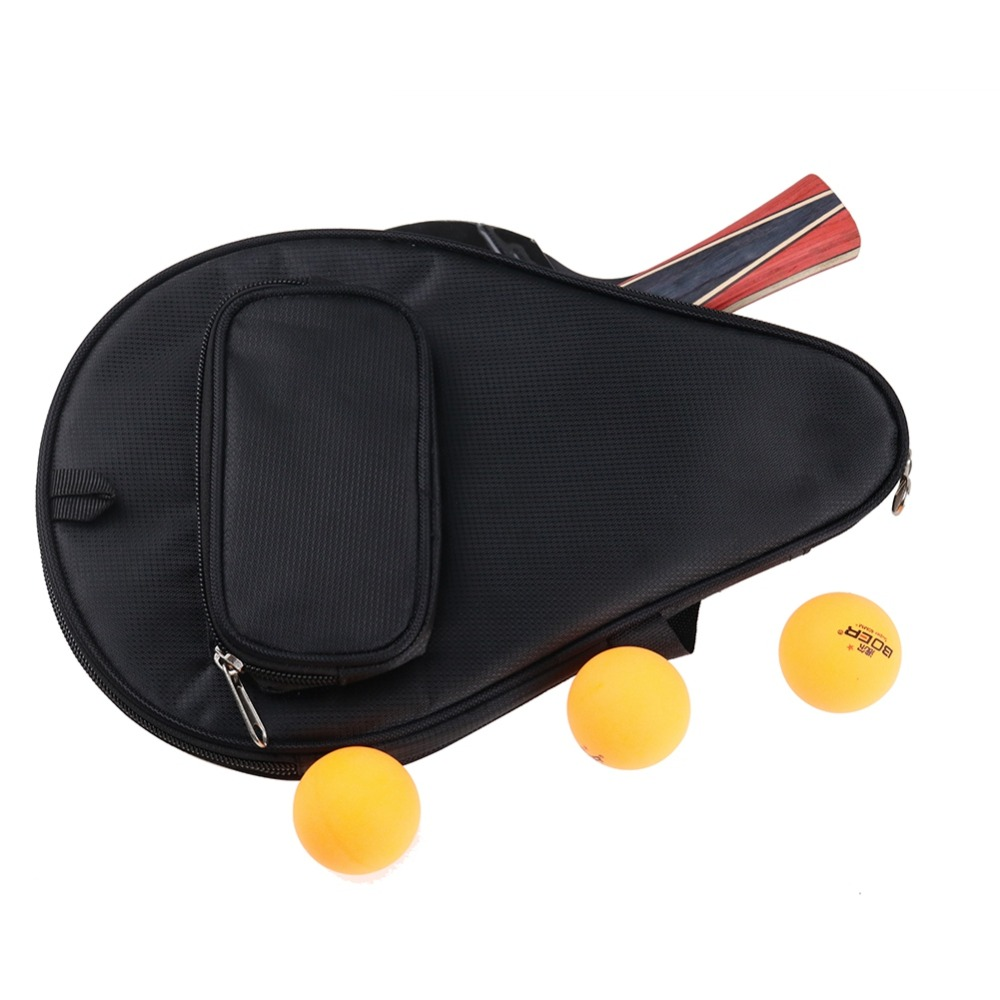 Portable Table Tennis Racket Bag Waterproof Table Tennis  Racket Cover Paddle Ping Pong Paddle Pouch With Ball Case