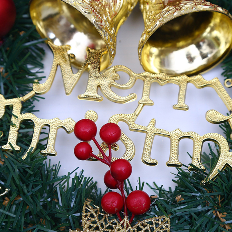 1Pc Exquisite Christmas Garland New Year Decor Christmas Tree Door Wall Pendant Flower Bell Rattan Christmas Decorations Gift in Pendant Drop Ornaments from Home Garden