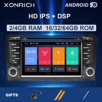 Car Multimedia Player 2 Din Android 10 GPS Head Unit For Audi A3 8P/A3 8P1 3 door Hatchback/S3 RS3 Sportback DVD Radio IPS DSP