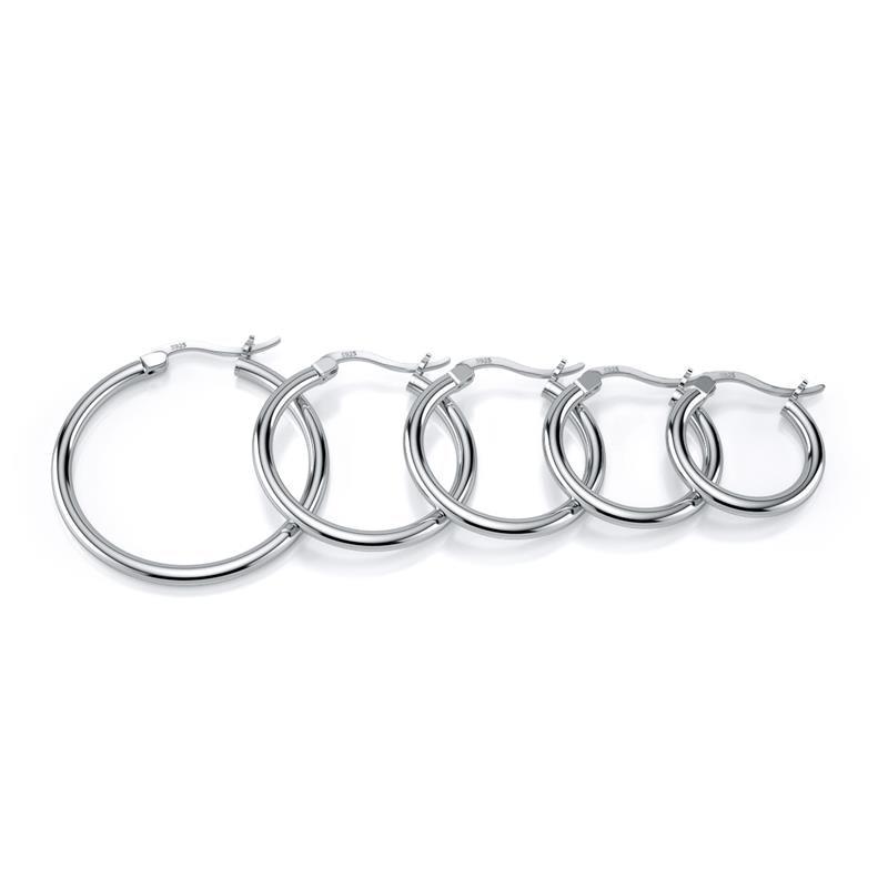 DALARAN Small Hoop Earrings 925 Sterling Silver Circle Round Huggie Hoop Earrings For Women Men Fashion Simple Brincos De Prata 3