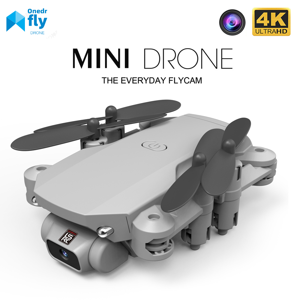 LSRC 2020 New Mini Drone 4K HD Camera WiFi Fpv Air Pressure Altitude Hold Black And Gray Foldable Quadcopter RC Dron Toy